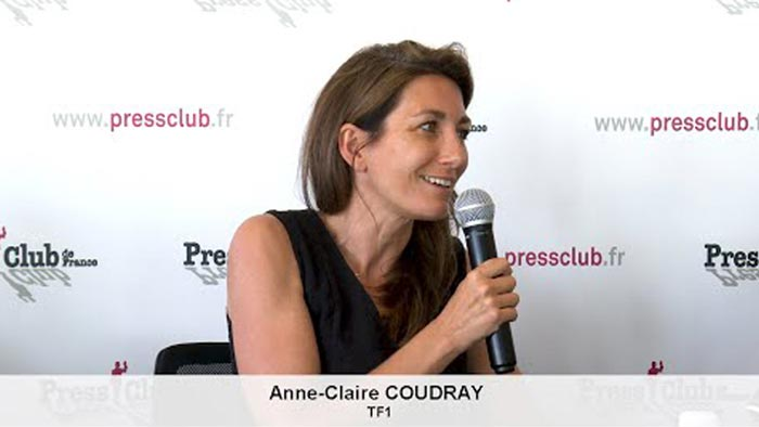 Anne Claire Coudray TF1 - Press Club de France