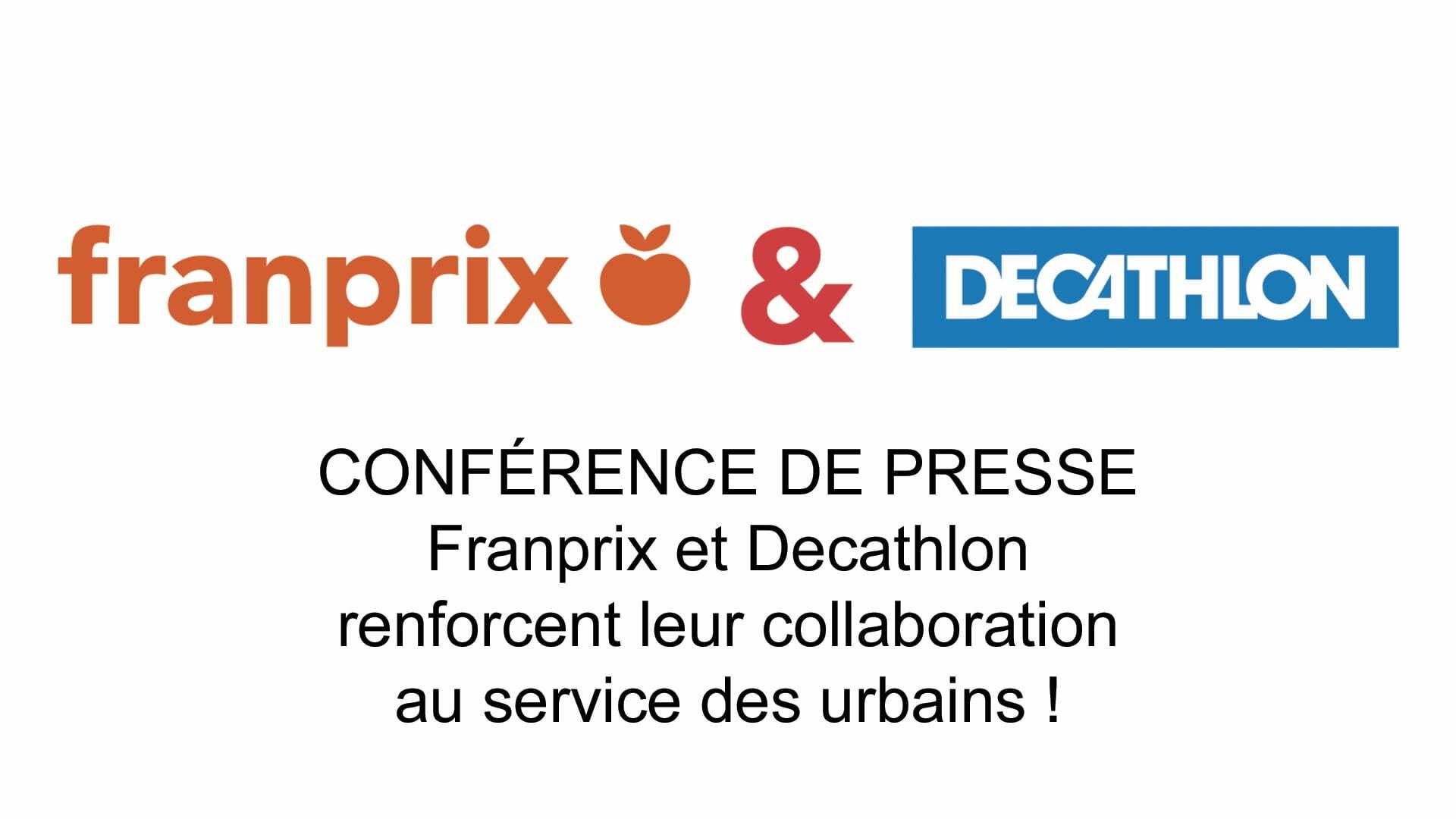 conférence de presse Franprix Decatlon Web conference digitale