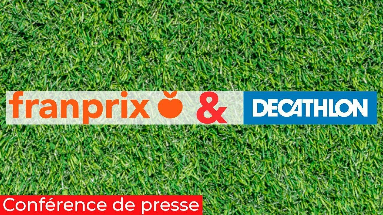 Conférence de presse digitale franprix décathlon